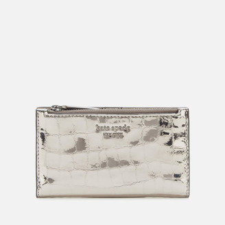 Kate Spade Women's Sylvia Croc Small Wallet - Gunmetal
