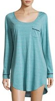Cosabella Bella Long-Sleeve Sleepshirt, Blue