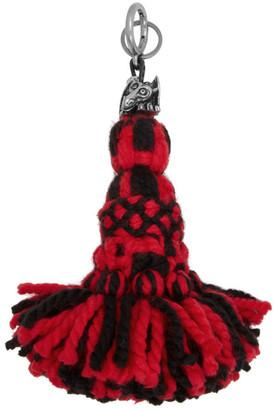 Loewe Red and Black William De Morgan Edition Tassel Dragon Charm Keychain