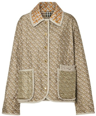 Burberry Quilted Silk Printed Jacket