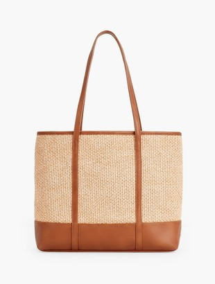 Talbots Packable Straw Tote Bag - Natural