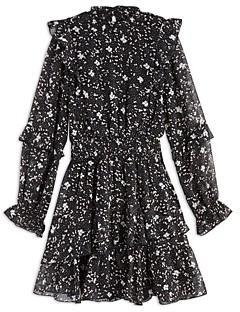 Aqua Girls' Ruffled Speckle Dress, Big Kid - 100% Exclusive