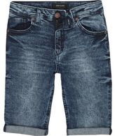River Island Boys blue eagle Dylan slim fit denim shorts