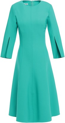 Oscar de la Renta Flared Wool-blend Dress