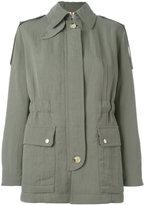 Helmut Lang fitted jacket - women - Cotton/Nylon/Cupro - XXXS