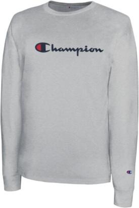 Champion Classic Cotton Long Sleeve T-Shirt - Oxford Grey