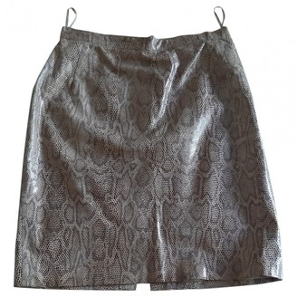Genny Beige Leather Skirt for Women