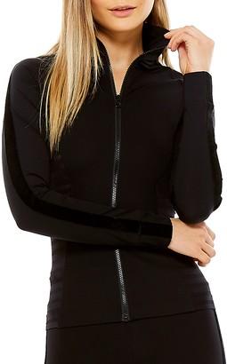 The Upside Tasha Velvet Stripe Full Zip Jacket