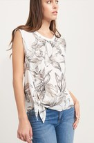 Dynamite Dropped Sleeve Tie Front Blouse