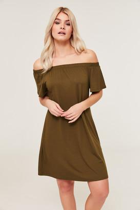 Ardene Basic Super Soft Off Shoulder Dress