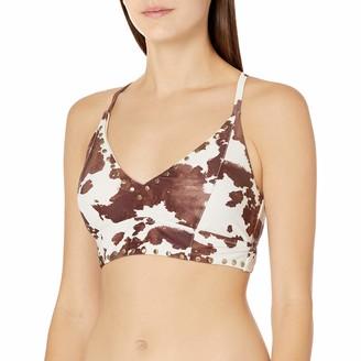 Jessica Simpson Women's Mix & Match Cow Print Swimsuit Separates (Top & Bottom)