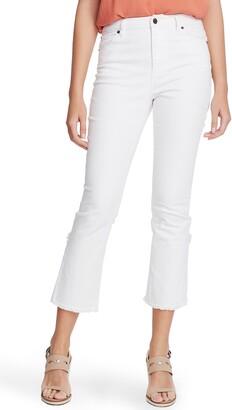 1 STATE Fray Tulip Hem Crop Skinny Jeans