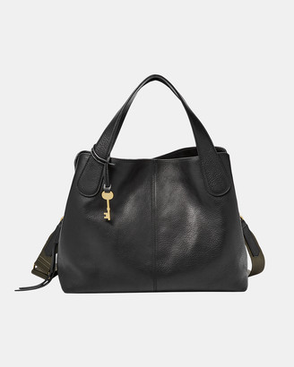 Fossil Maya Black Satchel Bag
