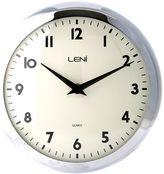 Leni Metal School Wall Clock, 24cm, Areaware Pig Chrome