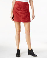 Sanctuary Serina Faux-Suede A-Line Mini Skirt