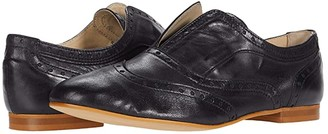 Massimo Matteo Laceless Oxford Wing Tip (Black) Women's Shoes