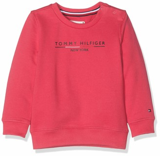 Tommy Hilfiger Baby Girls' Essential Logo Crew Sweatshirt