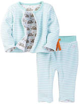 Boppy Woodland Reversible Cardigan & Pant Set (Baby Boys)