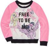 My Little Pony Crew Neck Long Sleeve Raglan Sleeve Blouse - Big Kid Girls