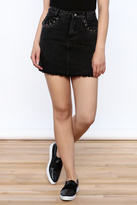 Honey Punch Black Denim Skirt