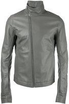 Rick Owens Mollino's biker jacket - men - Cotton/Goat Skin/Cupro - 48
