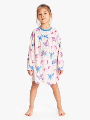 Hatley Girls' Unicorn Print Night Dress, Multi