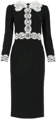 Dolce & Gabbana Lace Detail Midi Dress