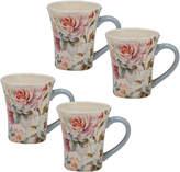 Certified International Set Of 4 Beautiful Romance 14Oz Mugs