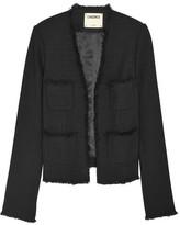 L'Agence Jules Frayed Bouclé Jacket - Black