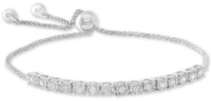 Wrapped in Love Wrapped Diamond Bolo Bracelet (1/2 ct. t.w.) in Sterling Silver, 14k Yellow Gold Over Silver, & 14k Rose Gold Over Silver, Created for Macy's