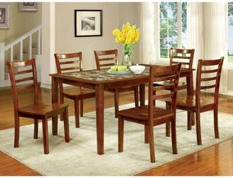 Red Barrel Studio Washam Wooden 7 Piece Counter Height Dining Table Set Red Barrel Studio