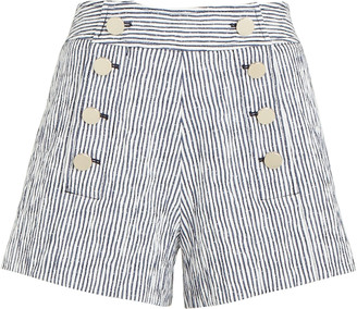 Derek Lam 10 Crosby Robertson Sailor Striped Shorts