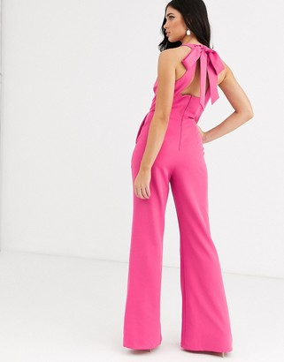 City Goddess halterneck jumpsuit