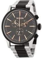 Nixon Stainless Steel Stripe Bracelet Watch