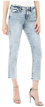 Liverpool Crop Straight w/ Fray Hem in Orlando (Orlando) Women's Jeans