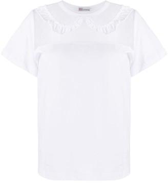 RED Valentino ruffled peter pan collar T-shirt