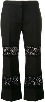 Alexander McQueen Lace Insert Cropped Trousers