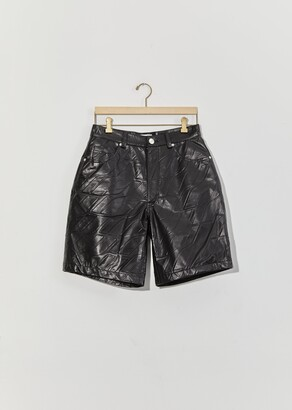 we11done Logo Embossed Faux Leather Trouser