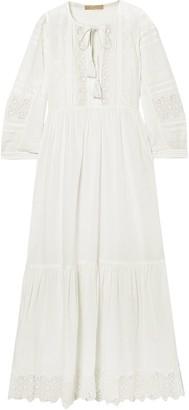 Vanessa Bruno Maki Crocheted Lace-trimmed Cotton Midi Dress