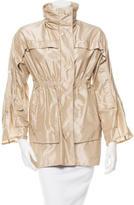 Lela Rose Three-Quarter Sleeve Windbreaker Jacket