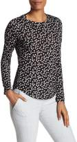 Rebecca Taylor Long Sleeve Knit Print Tee