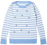 Attitude Woman Women's Bead-Embellished Striped Sweater -Plus