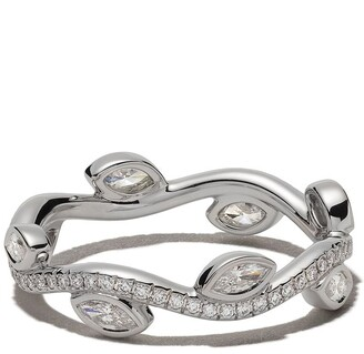 De Beers 18kt white gold Adonis Rose diamond band