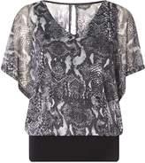 Dorothy Perkins **Billie & Blossom Grey Snake Print Blouse