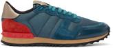 Valentino Blue Nylon Mesh Sneakers