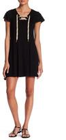 Kensie Grommet Lace-Up T-Shirt Dress