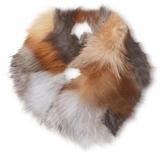 Adrienne Landau Multicolored Fox Cowl Scarf