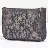 Jigsaw Alana Large Textured Leather Pouch Clutch