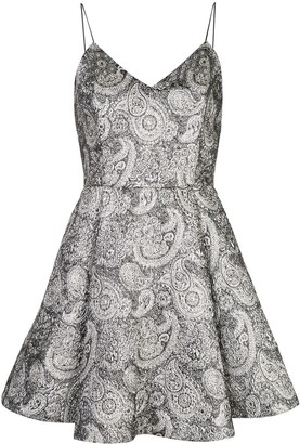Alice + Olivia Alice+Olivia Anette paisley pattern flared mini dress