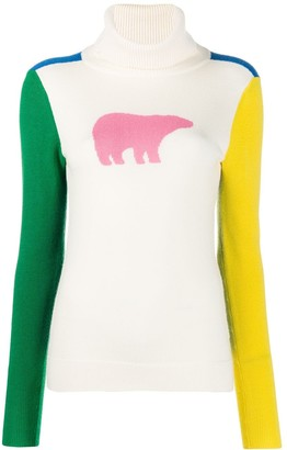 Perfect Moment polar bear colour block jumper